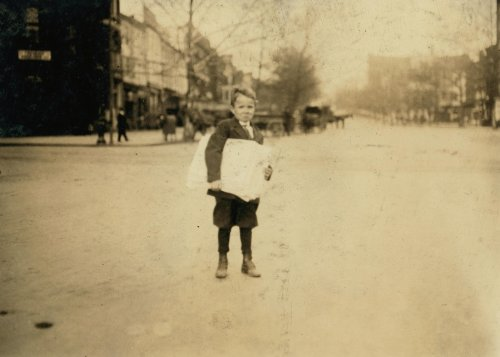 1912 child labor photo Tootsie, six yr. Old news-boy, sells every day and Sun c6