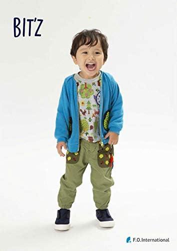 [ビッツ] 刺繍入りジョガーパンツ 9分丈 子供服 キッズ B121020