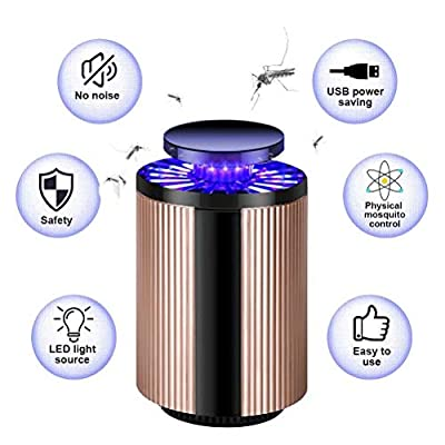 Electric Mosquito Killer Lamp, 2019 Upgraded Electric Bug Zapper with UV LED Light, USB Powered Mosquito Trap Indoor, Chemical-Free, Nontoxic, Odorless, Noiseless , Safe for Babies, Pregnant Women