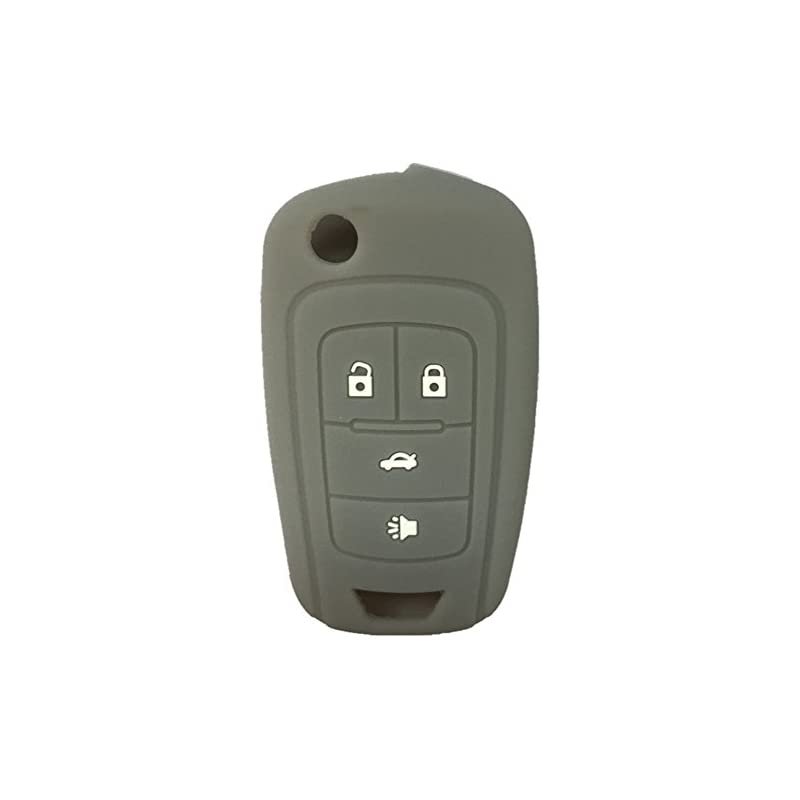 New Gray 4 Buttons Key Cover for Flip Fo