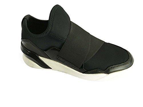 Mod Sapatos Londres E Preto Neoprene Elástico Senhoras Crime 25218s16b q6tpZ