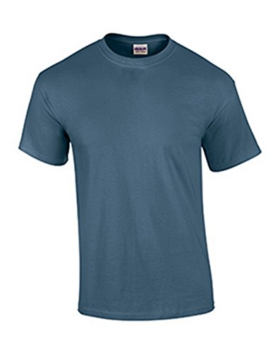 Gildan Ultra Cotton - Ultra Cotton T-Shirt - Heathered Indigo 2000 SMALL ()