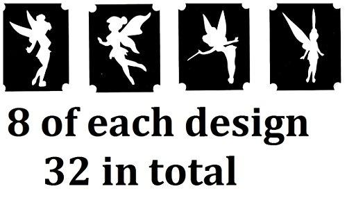 Tinkerbell Glitter Tattoo Kit - Character Tattoo Stencil Collections (32 Tattoo