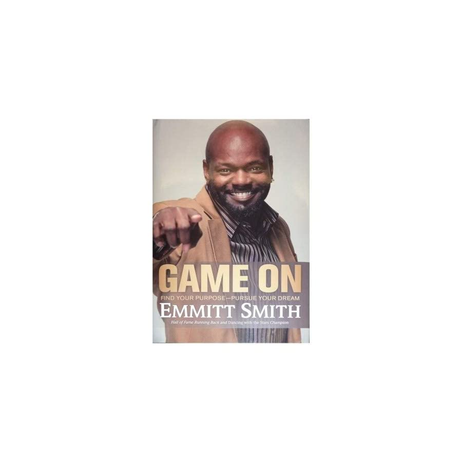 Emmitt Smith Autographed Signed Auto Game On Book Certified Authentic