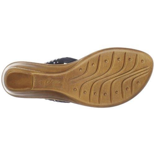 Onex Kvinders Burst Thong Sandal Sort / Sølv 0Tnk6Fi2
