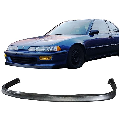 Front Bumper Lip Fits 1992-1993 Acura Integra All Models JDP Style front bumper lip Spoiler Splitter Valance Fascia Cover Guard Protection Conversion by IKONMOTORSPORTS