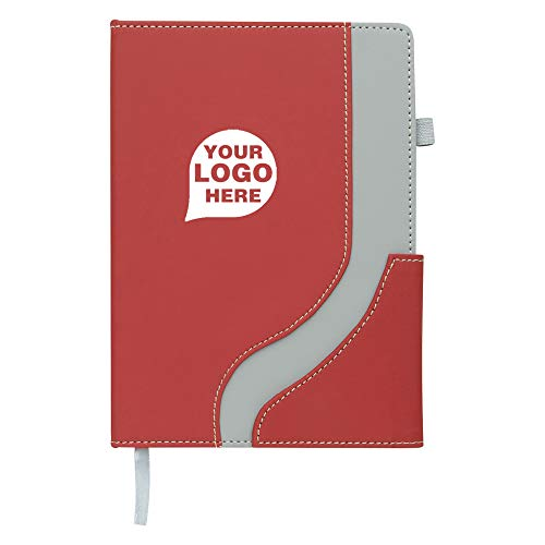 Wave Journal Notebook - 100 Quantity - $3.25 Each - Promotional Product/Bulk/Branded with Your Logo/Customized