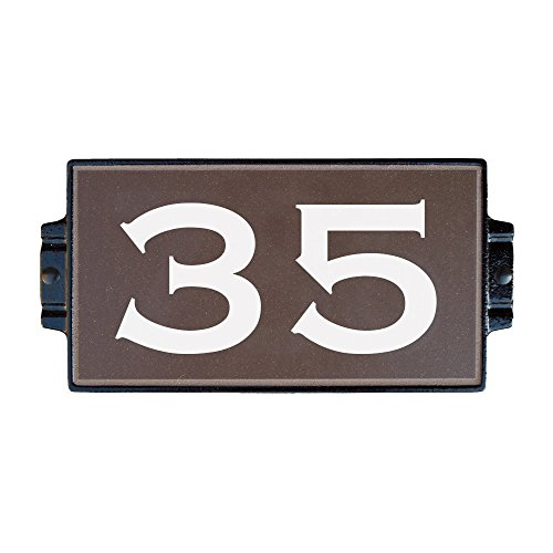 Chocolate Address Plaque 2 by Craftsman House Numbers