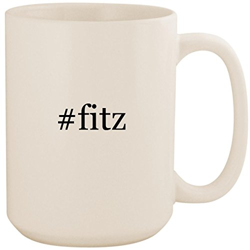 #fitz - White Hashtag 15oz Ceramic Coffee Mug ()