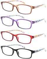 Reading Glasses 5 Pairs Stylish Color Readers...