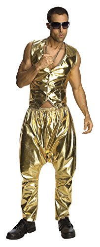 9057 Gold MC Hammer Parachute Pants Only