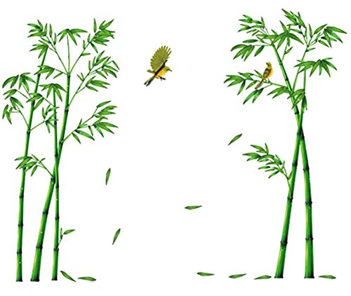 COVPAW Wall Stickers Bamboo Mural Home Decor Lobby Living Room Bedroom Decal Corridor Stair