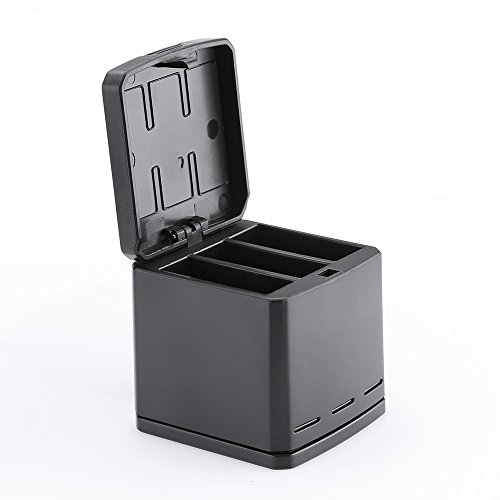 Price comparison product image TELESIN 3 Channel Storage Box Charger for GoPro Hero 6/5 Black (Charger)