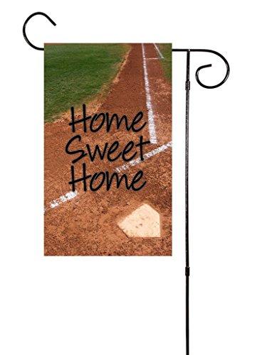 "Unique Textile Printing Home Sweet Home Baseball/Softball Garden Flag 12""x18"""
