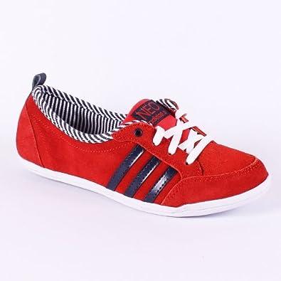 adidas Piona Sneaker Schuhe Damen Leder rot