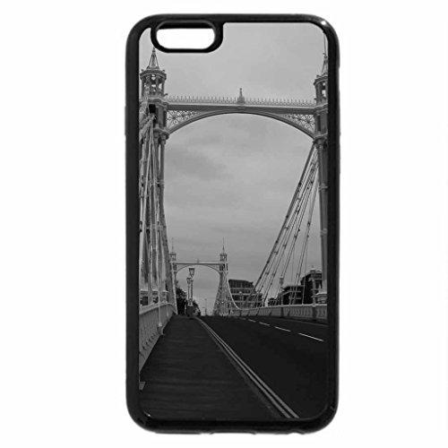 iPhone 6S Plus Case, iPhone 6 Plus Case (Black & White) - Albert Bridge,London