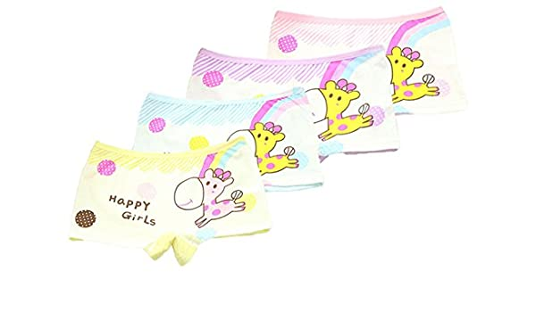 Maylife Little Girls Kids 5 Pcs Candy Color Gymnastics Slim Elastic Safety Bike Short Panties