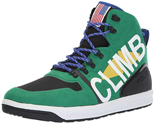 Polo Ralph Lauren Men's ALPINE200 Sneaker, English Green/Multi, 14 D US ()