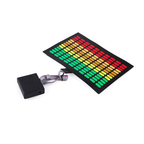 HDE Sound-Activated Rave LED Panel w/Sensor Module - Equalizer -