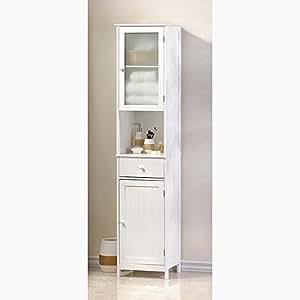 Amazon.com: Bathroom Storage Cabinet Sleek Wood with