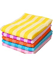 Microfiber Cleaning Cloth Dish Cloths | Set of 5 | 12 x 12 Inches | Super Soft and Absorbent | Perfect for Household and Commercial Uses