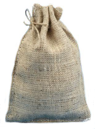 8 X 12 Burlap Bags with Drawstring - Lot of 10