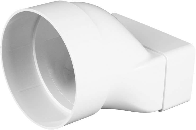Adaptador pieza de transición redondo/rectangular, 55 x 110 mm, diámetro 100 mm Plano Canal Canalizado Tubo Canalizado baño Ventilador, Awenta: Amazon.es: Hogar