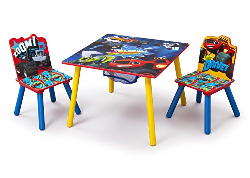 Crafts Monsters (Delta Children Table and Chair Set with Storage, Nick Jr. Blaze/The Monster Machines)