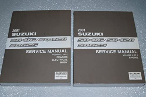 2001 suzuki vitara grand vitara factory service manuals 2 volume rh amazon com 2001 Suzuki Vitara Problems 2001 suzuki grand vitara service manual free download