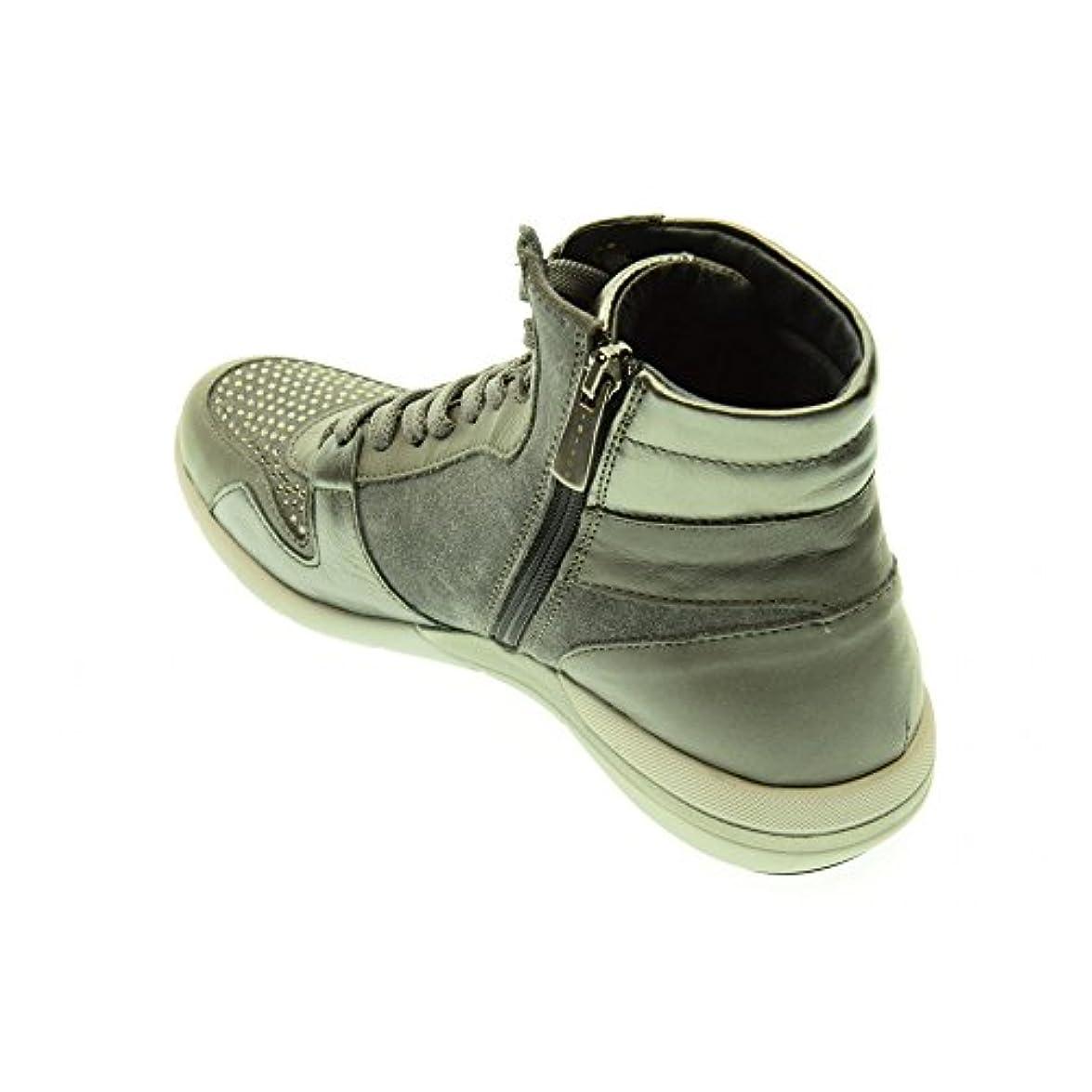 Igi amp;co 48153 Grigio Scarpe Donna Sportive Sneakers Alte Brillantini Zip