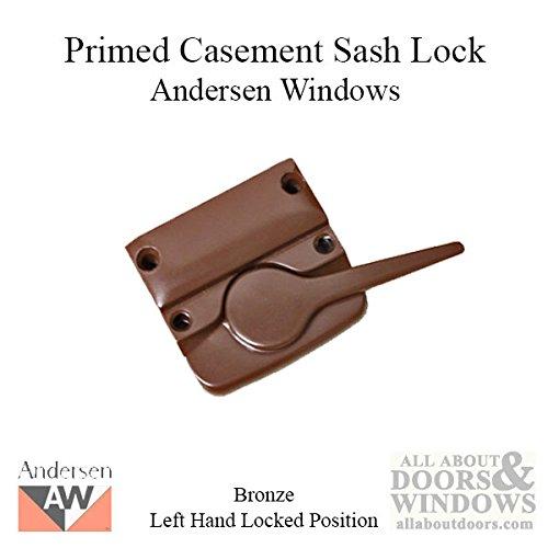Andersen Left Hand Primed Casement Sash Lock - Bronze by Andersen Windows