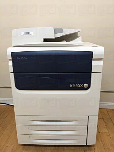 Xerox Digital Color Copiers - Xerox Color C75 Press Digital Laser Production Printer/Copier – 75ppm, Copy, Print, Scan, 3 Trays, Bypass Tray, 497K02420 Offset Catch Tray, B35 Integrated Fiery Color Server