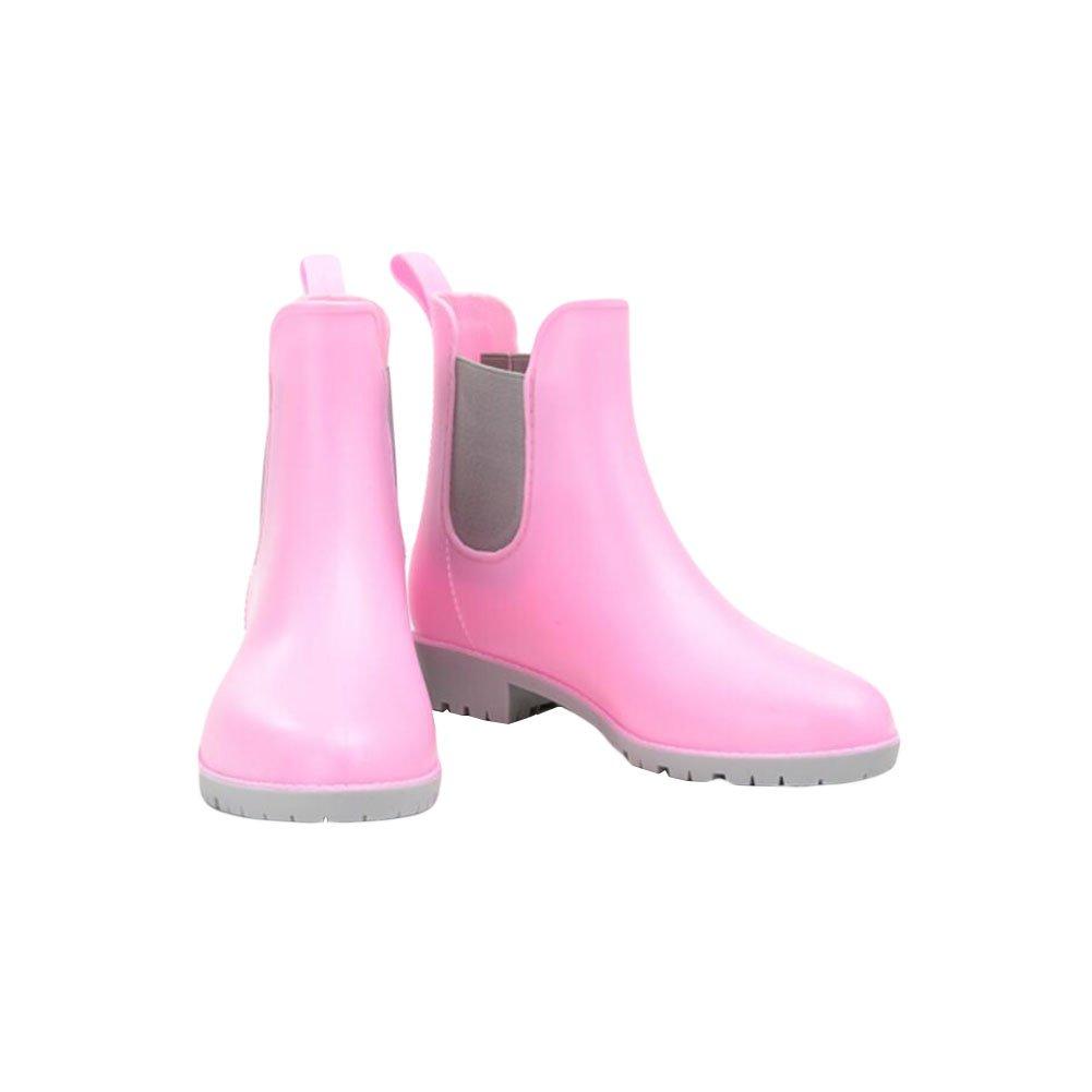 Meijunter Damen Beiläufig Elastisch Martin Rainboots Regen Stiefel Wasserdicht Gummi Regen Schuhe Ankle Boots Wasser Schuhe CXZ2cn8Ws
