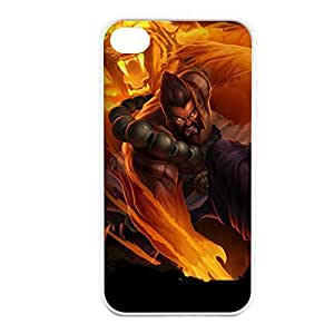 Udyr-005 League of Legends LoL case cover for Apple iPhone 4 / 4S - Rubber White