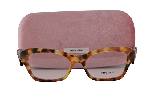 Miu Miu MU05OV Eyeglasses 51-17-145 Sand Medium Havana UA51O1 MU 05OV For - Miu Style Com Miu