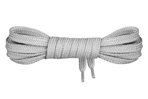 indéchirables 100 7 Mount nbsp;cm lacets coton 1 nbsp;mm de plats 45‑200 longueur Lacets nbsp;paire gris Swiss© Premium largeur 8AwCv