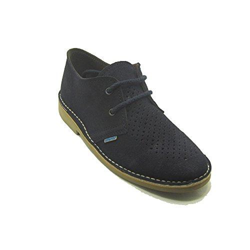 K901FPCP - Zapato safari perforado azul marino
