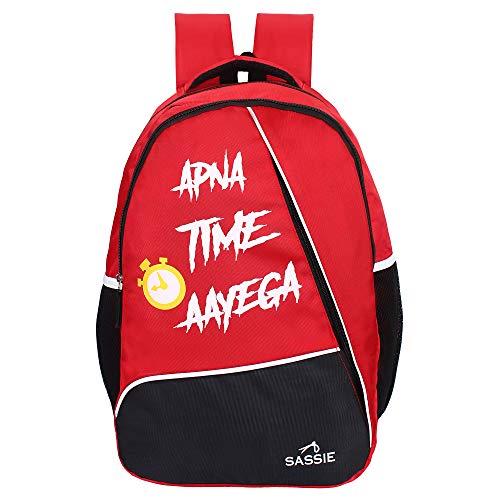 Sassie #34;Dream #34; 35 LTR Red  amp; Black School Bag l Backpack  SSN 1104