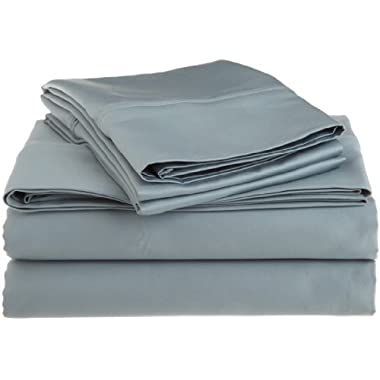 1200 Thread Count Premium Egyptian Cotton, Single Ply, King Bed Sheet Set, Solid, Teal