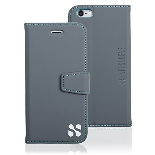 iPhone 6/6s Cell Phone Radiation Blocker and RFID Wallet Case by SafeSleeve (Grey) by SafeSleeve