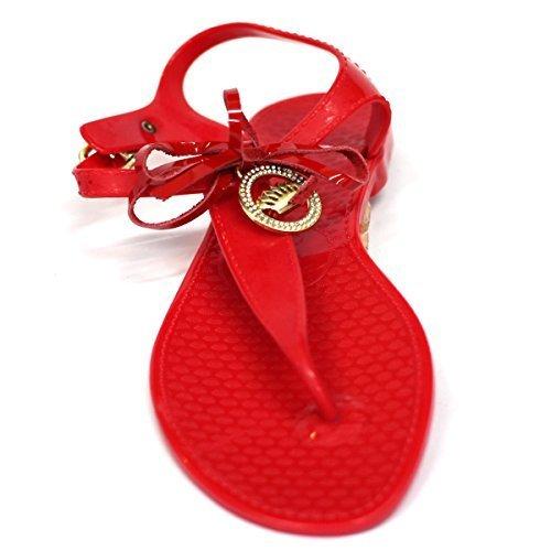 Para dedo del pie-Post Juicy Couture carcasa blanda de y pedrería para mujer tipo libro con función de diseño de corona para pulsera, estándar del Reino Unido 3,5 RRP £82 Amarillo - rojo