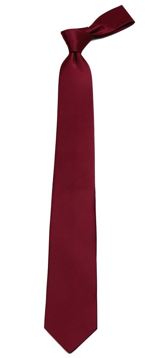 B-ADF-7 - Boys - Burgundy - Solid Necktie