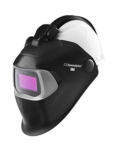 3M Speedglas Quick Release Welding Helmet 100 QR with 100V Auto-Darkening Filter and Hardhat H-701R, 07-0012-31BL-QR, Adjustable, Black