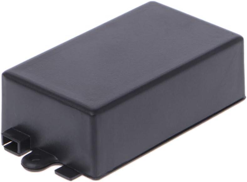 Gwxevce Caja de Proyecto de Caja electrónica de plástico Impermeable Conector Negro de 65x38x22 mm: Amazon.es: Hogar
