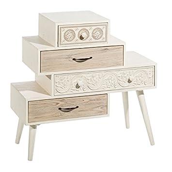 D,casa - Cómoda blanca de madera de diseño vintage para ...