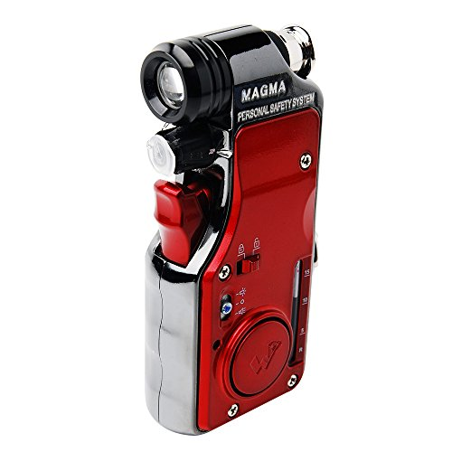 WORLDHUMANTEC MAGMA Multi-fucntional Portable Self-defense Security Pepper Spray with Light and Alarm - S2 Red (Advanced type) by Magma