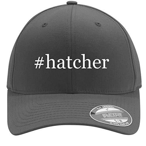 #hatcher - Adult Men's Hashtag Flexfit Baseball Hat Cap, Silver, Small/Medium