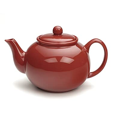 RSVP Cherry Red 6 cup Stoneware Chai Teapot