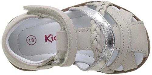 Kickers Giliane - Primeros Pasos de Otra Piel Bebé-Niños Blanc (Blanc Argent)