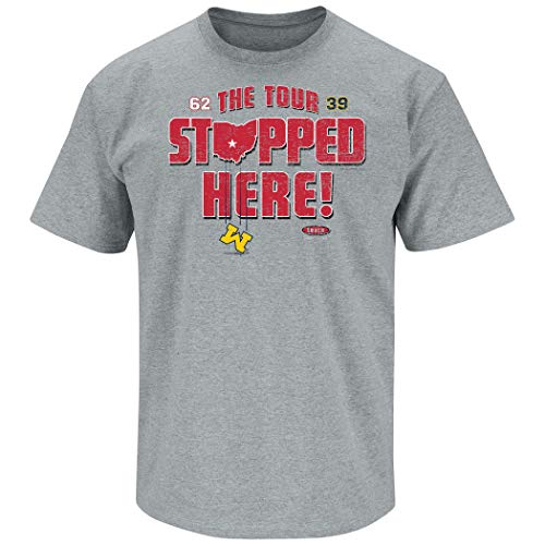 - Ohio State Football Fans. The Tour Stopped Here. Gray T-Shirt (Sm-5X) (Short Sleeve, 2XL)